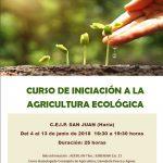Cartel Curso Agricultura Ecológica