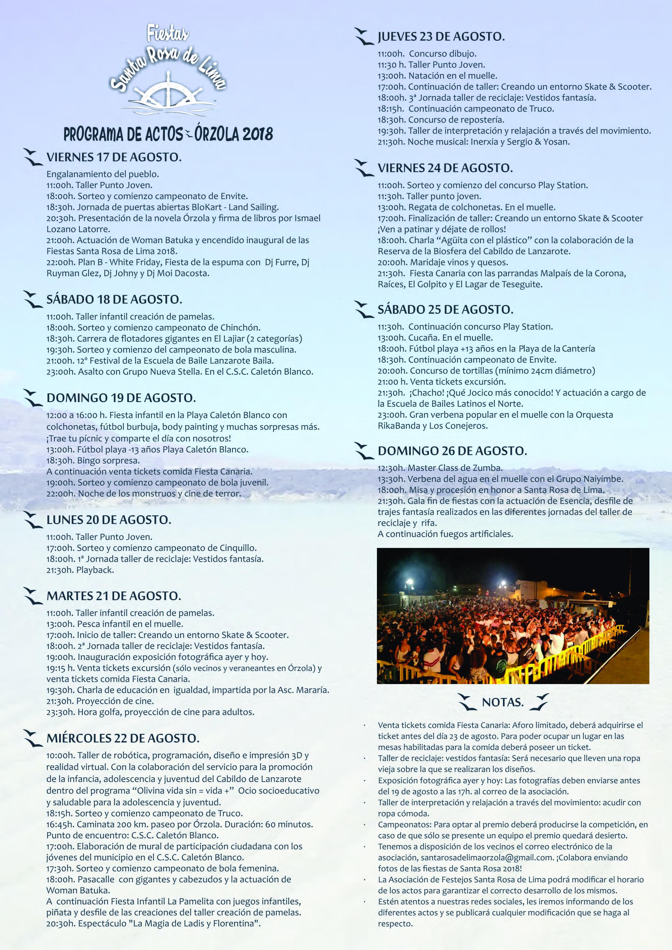 Programa Fiestas de Santa Rosa Orzola 2018_Página_2