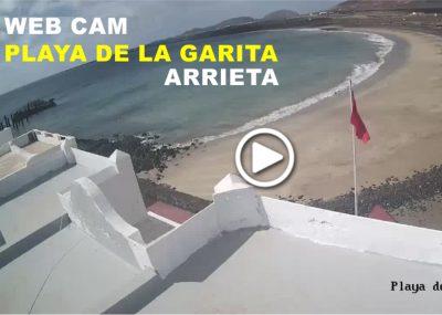 Webcam Playa de la Garita en Arrieta. Haría-Lanzarote