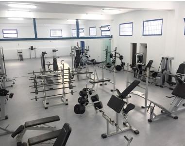 Interior del gimnasio municipal de Haría